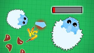 Mope.io Ice Monster Vs. Ice Monster...Monsters Gameplay and Trolling In Wild Mope!