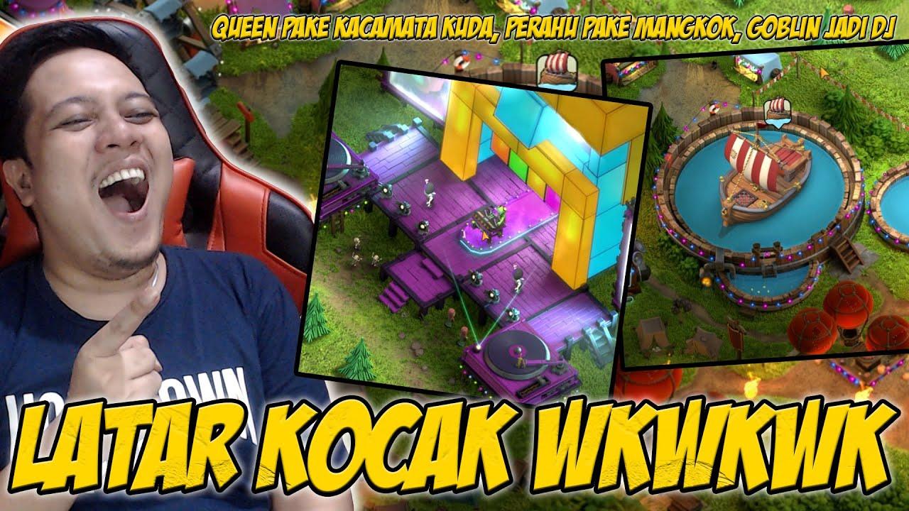 Si Goblin Jadi DJ Dan Perahu Naik Mangkuk Wkwkwkwkwk | Clash of Clans Indonesia