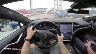 2016 Tesla MODEL S 90D POV Test Drive