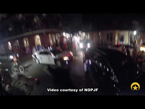 NOPD Mounted Unit arrest in Eighth District