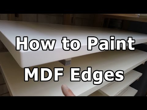 How to Paint MDF edges - without special sealers