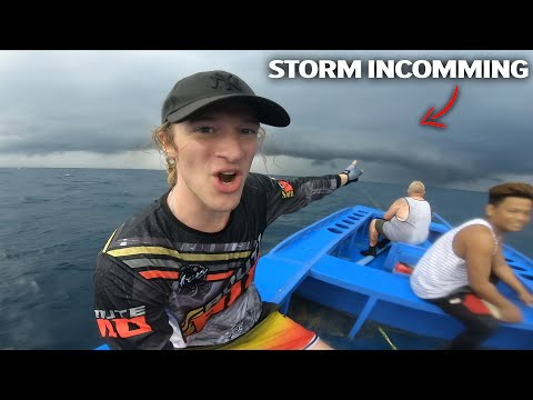 Sailing in a STORM, low pressure Philippines formed FAST.. (we had to evacuate)