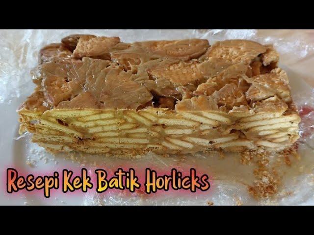 Resepi Kek Batik Horlicks Viral 4 Bahan Dan Tanpa Telur Youtube