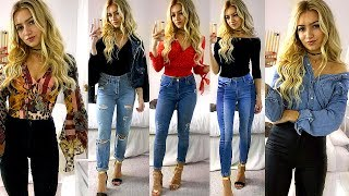 Jeans High waisted outfit skinny