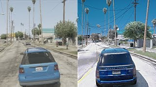 GTA 5 Xbox 360 vs $10,000 Gaming PC! Ultra-Realistic GTA 6 4k 60FPS Graphics Mod!