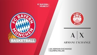 FC Bayern Munich - AX Armani Exchange Olimpia Milan Highlights | EuroLeague RS Round 18