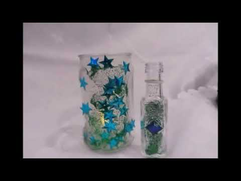 diy kinderleichte bastel technik mini vase windlicht selber machen upcycling how to youtube. Black Bedroom Furniture Sets. Home Design Ideas