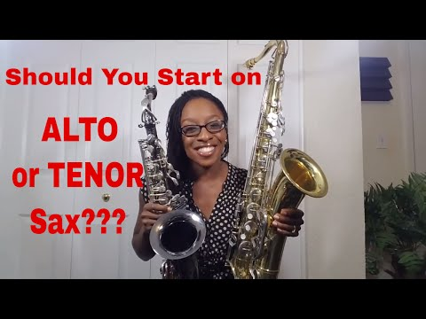 Should You Start on Alto or Tenor Sax?