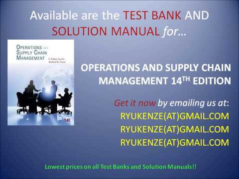 Solution Manual Test Bank Operations And Supply Chain Management 14th Edition