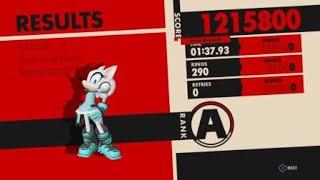 Sonic Forces - Stage 2 Spaceport Speedrun - 1:37.93 w/Wolf Avatar + Drill