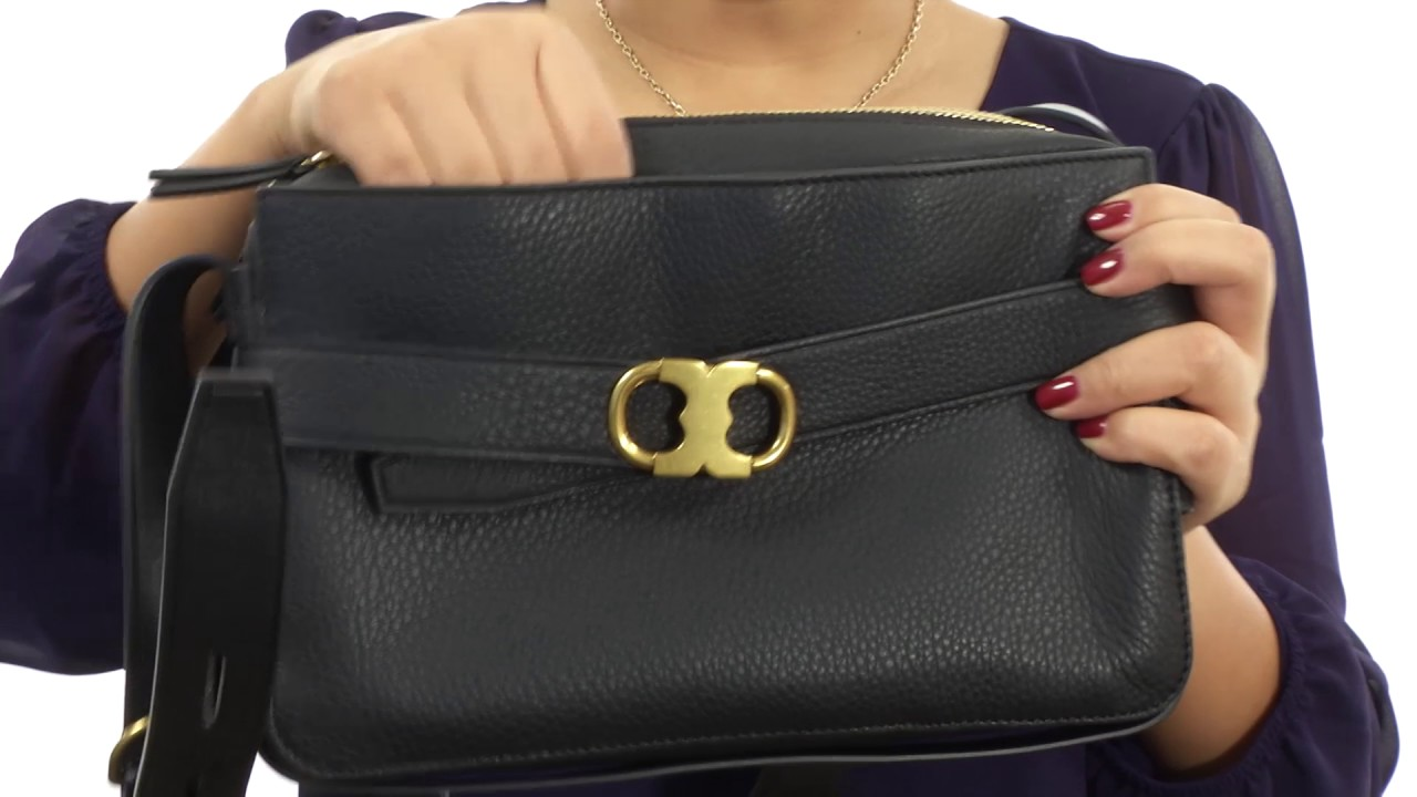 d30bddbbfe7 Tory Burch Gemini Link Camera Bag SKU 8843857 - YouTube