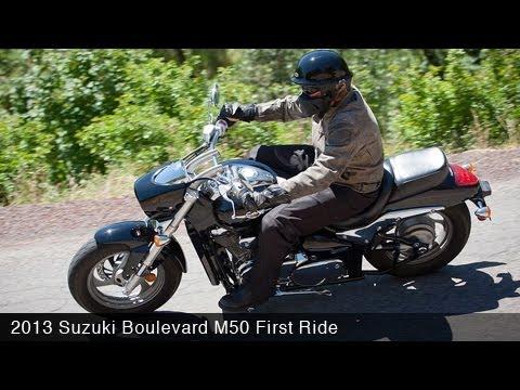 2013 Suzuki Boulevard M50 First Ride - MotoUSA - YouTube