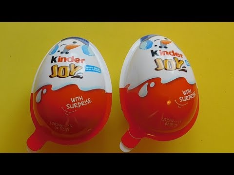 2 Kinder Joy Christmas 2018 Surprise Toys Unboxing Video For Kids AbCdE