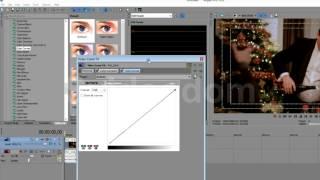 видео урок Sony Vegas 12 - цветокоррекция c  color corrector
