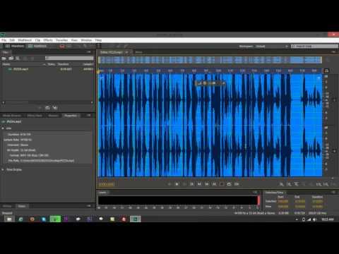 Convert MP3 to OGG Using Adobe Audition CS6