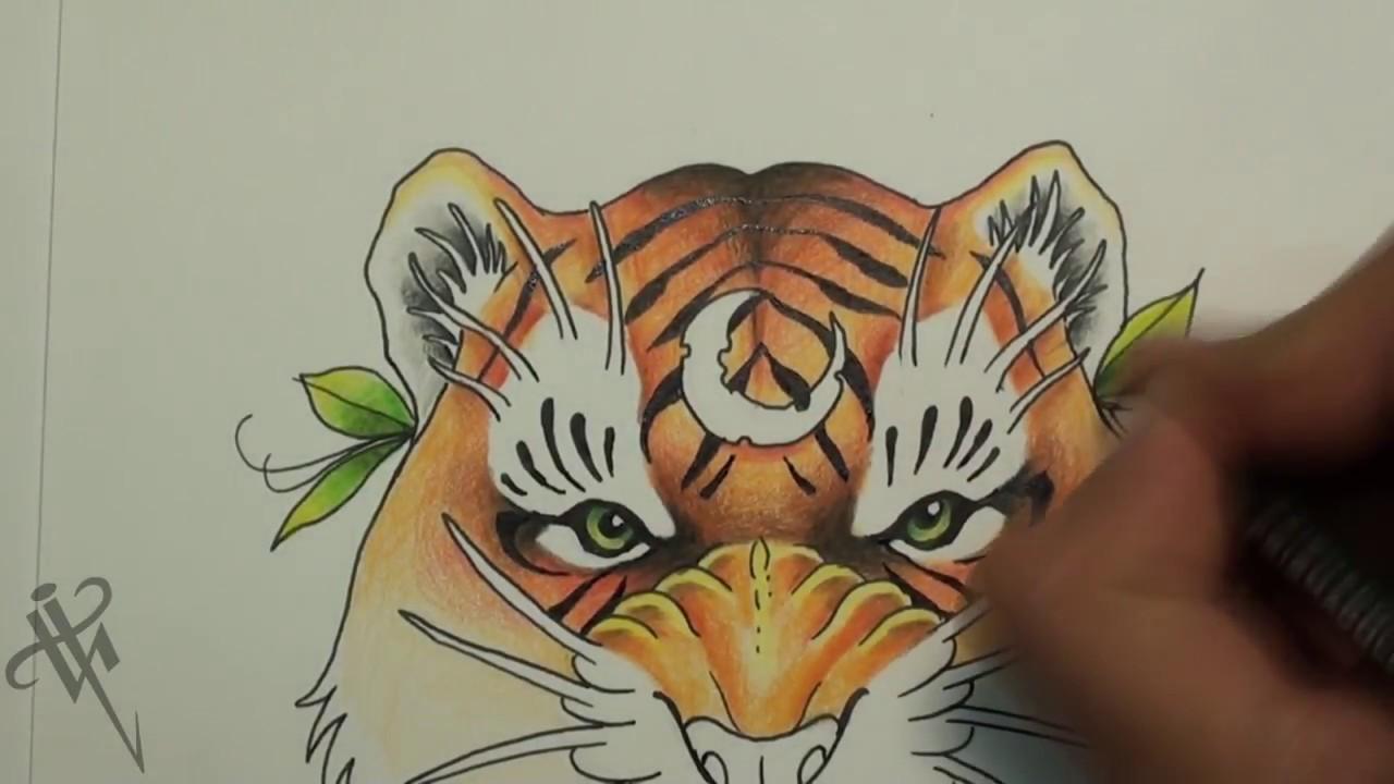 Diseño De Tigre New School Tiger Tattoo Design Nosfe Ink Tattoo