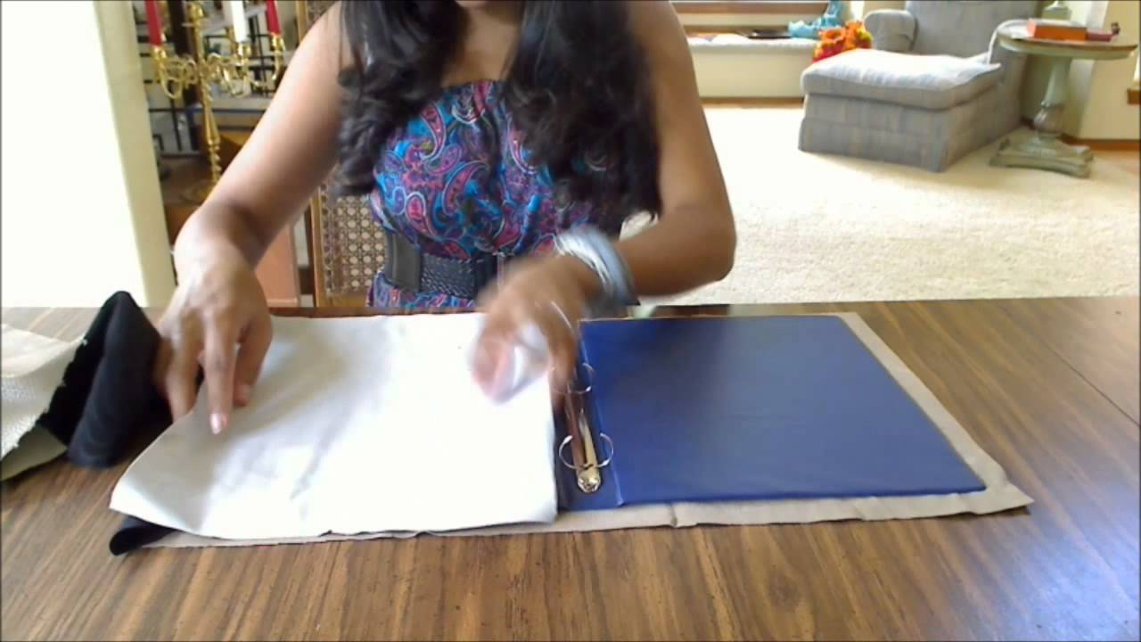 How to make a binder cover with pockets - YouTube