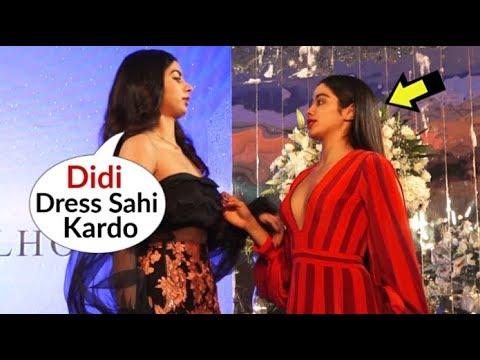 Khushi Kapoor HELPS Sister Jhanvi Kapoor With Her Dress At Manish Malhotra's Fashion Show 2018 Mp3