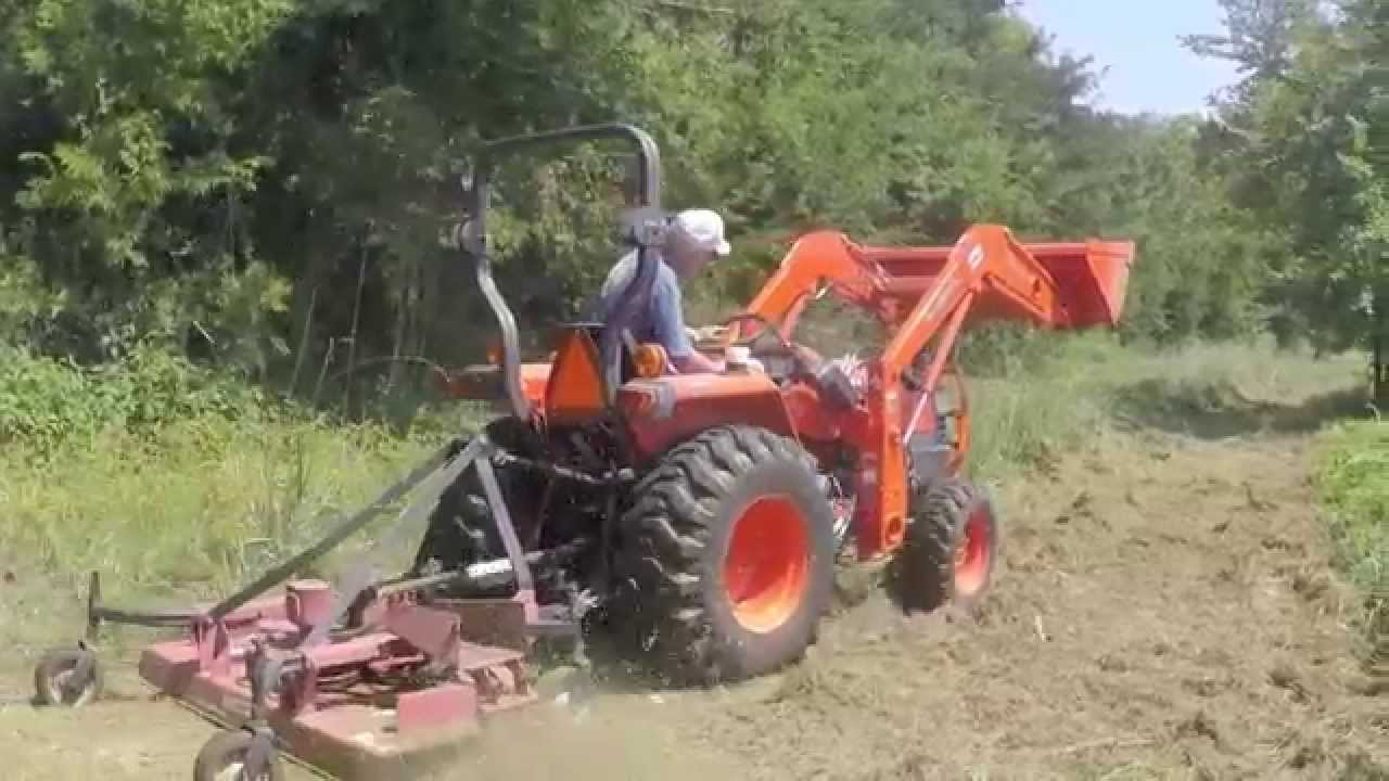 Bush Hogging Tall Weeds With Kubota L3400 Tractor Youtube