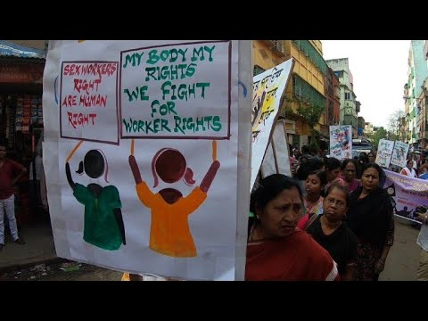 Sex workers in India hold rally demanding better rights