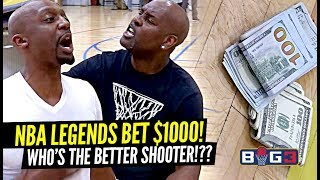NBA Legend Gary Payton Bets $1000 & Gets HEATED vs Jason Terry at Big 3!! Hilarious Trash Talk!