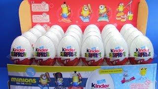 NOVO !!! 24 Kinder Jaja _ otvaranje Kinder jaja  SUPER IGRACKE MINIONS KOLEKCIJA 24 SURPRISE EGGS !