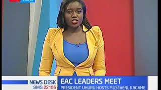 President Uhuru hosts three presidents in Nairobi