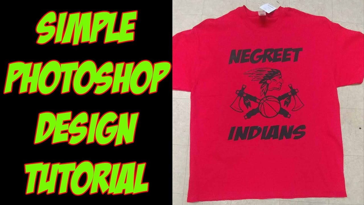 Creating A Simple T Shirt Design In Photoshop Tutorial Youtube