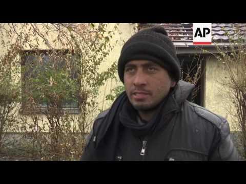 Migrants seek shelter on Serbia/Hungary border