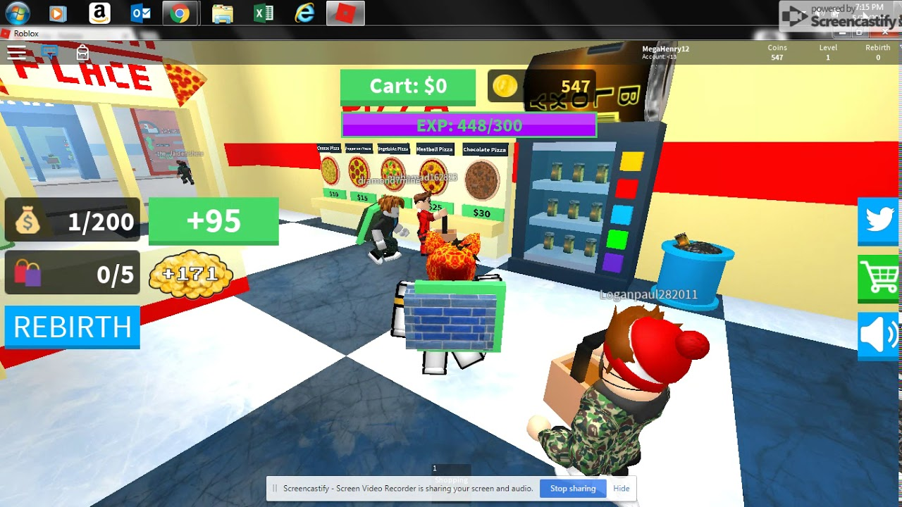 Getting To Level 5 Roblox Shopping Simulator Youtube