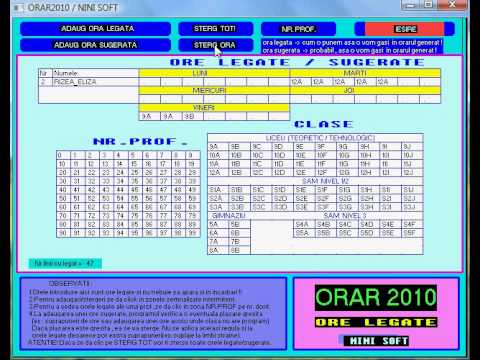 Generator orar / timetable / - demo - YouTube