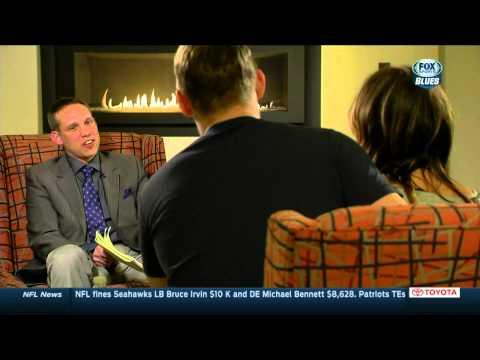 Vladimir Tarasenko interview w Andy Strickland pt2. St. Louis Blues vs Buffalo Sabres Feb 5 2015 NHL