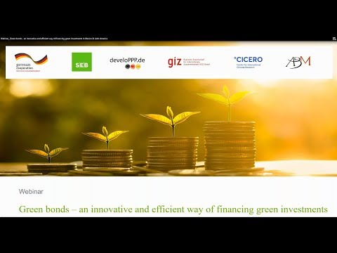 Live webinar Green bonds – Innovative / efficient way of financing green investments in Mexico & LA