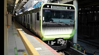 【山手線】品川東京方面(内回り) 渋谷駅ホーム到着