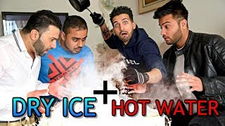 HOT WATER and DRY ICE EXPERIMENT