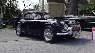 1965 Triumph TR4 Convertible in Black Paint & Engine Sound on My Car Story with Lou Costabile