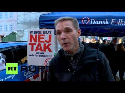 Denmark: People's Party leader campaigns for 'no' in referendum