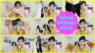 Singapore HAUL   TOPSHOP, FOREVER 21, H & M ,KIYO ,ARIES,Birthday Spring Fashion   SuperPrincessjo