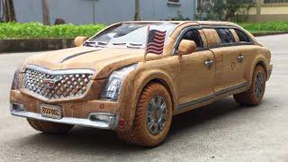 Wood Carving - CADILLAC SEDAN 2020 - WoodWorking Art