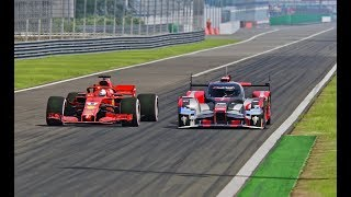 Ferrari F1 2018 vs Audi R18 LMP1 - Monza