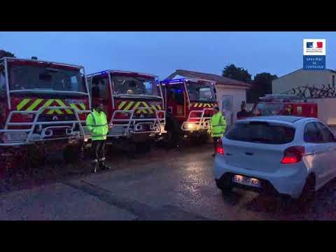 Pyrénées-Orientales : les forces de secours mobilisées à Rivesaltes suite à la vigilance rouge