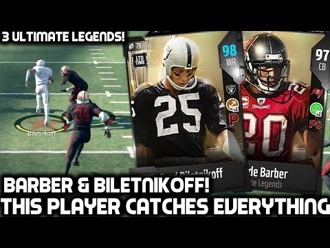 THIS PLAYER CATCHES EVERYTHING! RONDE BARBER & BILETNIKOFF! Madden 18 Ultimate Team