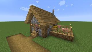 How to build a Minecraft Village Butcher Shop 1 1 14 plains YouTube
