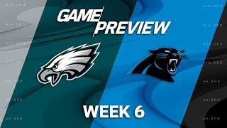 Philadelphia Eagles vs. Carolina Panthers | Week 6 Game Previews | NFL Playbook 2017 Video