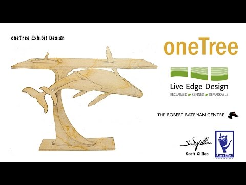 oneTree Exhibit - Humpback whale carving - Stage Two