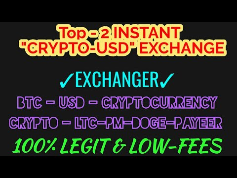 Instant cryptocurrency exchange coin
