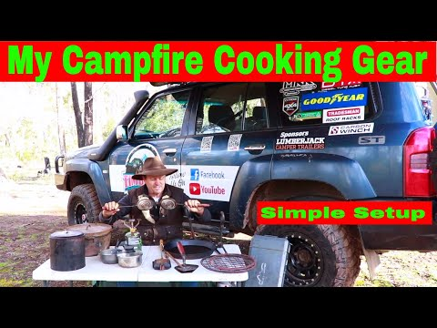 Campfire Cooking Equipment - ( Simple  Setup That Works. )