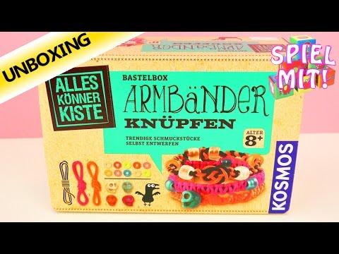 Kosmos Alles Könner Kiste Armbänder knüpfen | coole Armbänder selbst gestalten | Unboxing