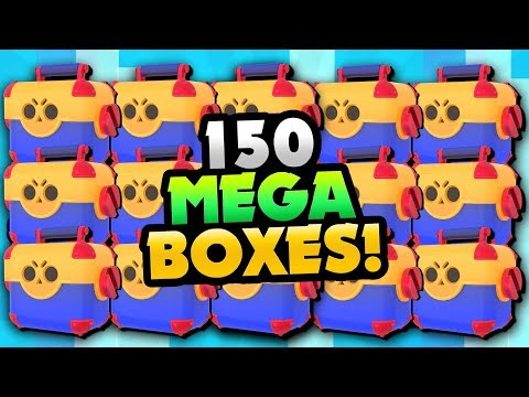 150 MEGA BRAWL BOX OPENING! WE GOT HOW MANY NEW BRAWLERS?! | Brawl Stars | BEST MEGA BOX OPENING!