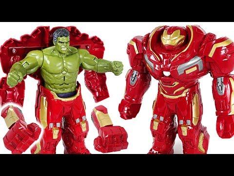 Red Hulk Is Angry! Go! Marvel Avengers Infinity War Hulk In Hulkbuster Armor! - DuDuPopTOY